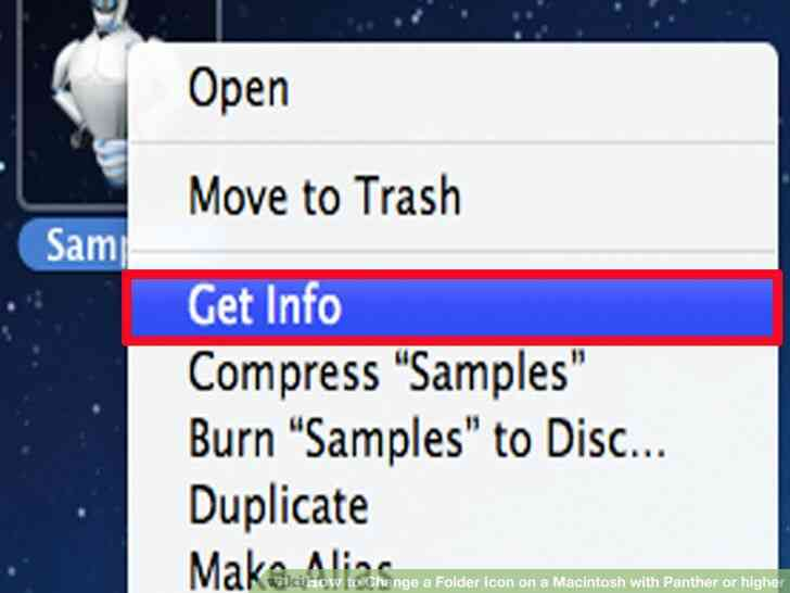 Imagen titulada Cambiar el Icono de una Carpeta en un equipo Macintosh con Pantera o superior Paso 2