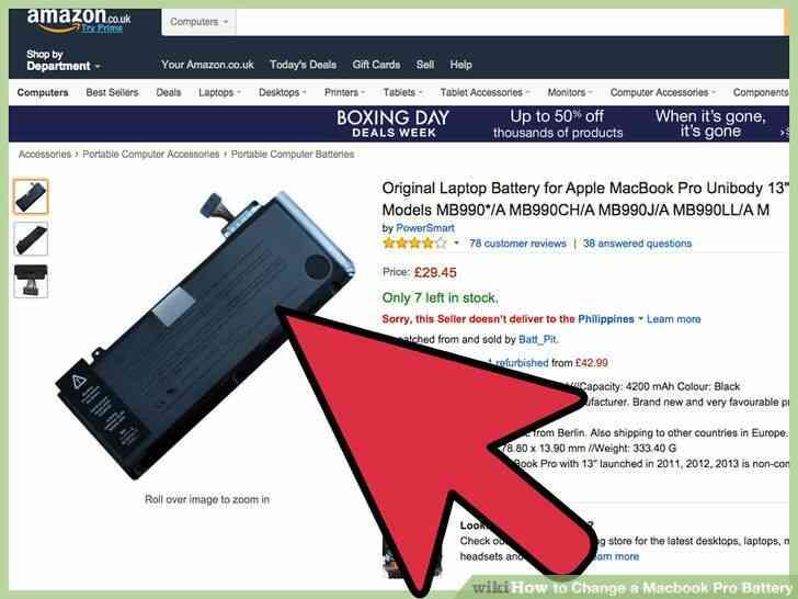 Imagen titulada Cambiar una Batería de Macbook Pro, Paso 8