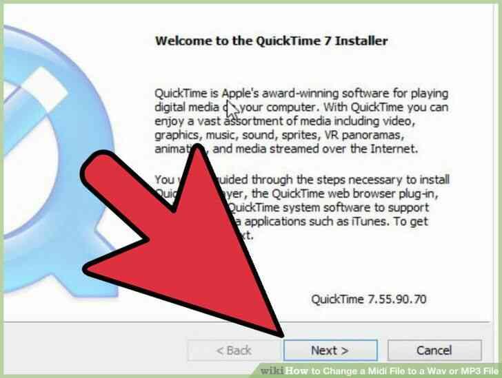 Imagen titulada Cambiar un Archivo Midi a Wav o MP3 Archivo de Step 7