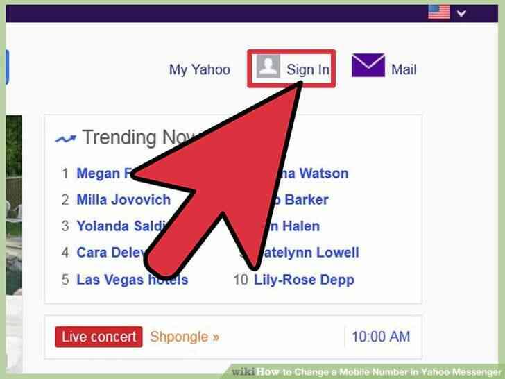 Imagen titulada Cambiar un Número de teléfono Móvil en Yahoo Messenger Paso 1