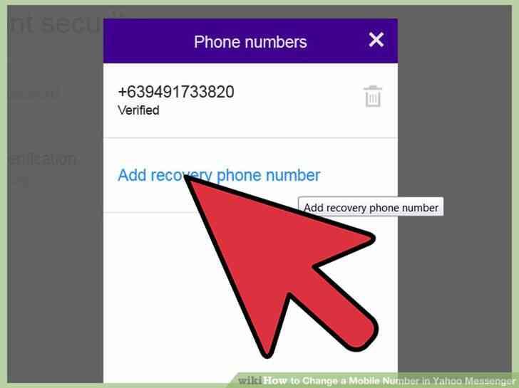 Imagen titulada Cambiar un Número de teléfono Móvil en Yahoo Messenger Paso 6