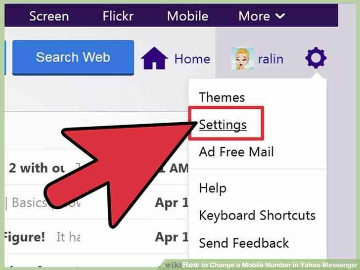 Imagen titulada Cambiar un Número de teléfono Móvil en Yahoo Messenger Paso 2