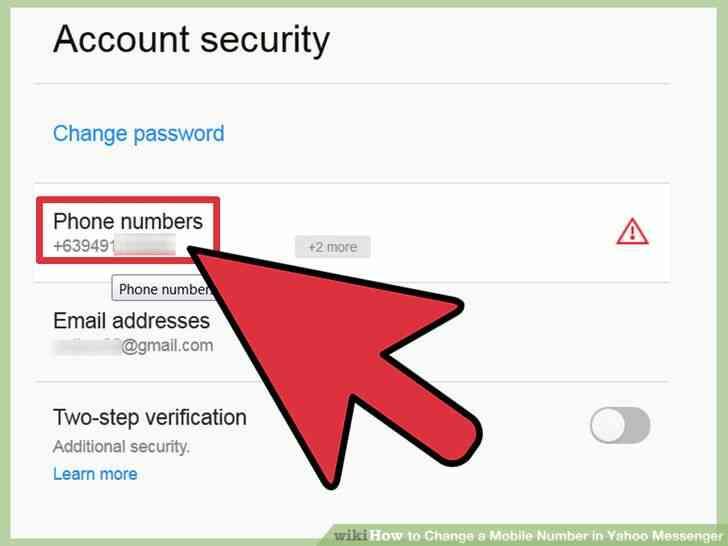 Imagen titulada Cambiar un Número de teléfono Móvil en Yahoo Messenger Paso 5