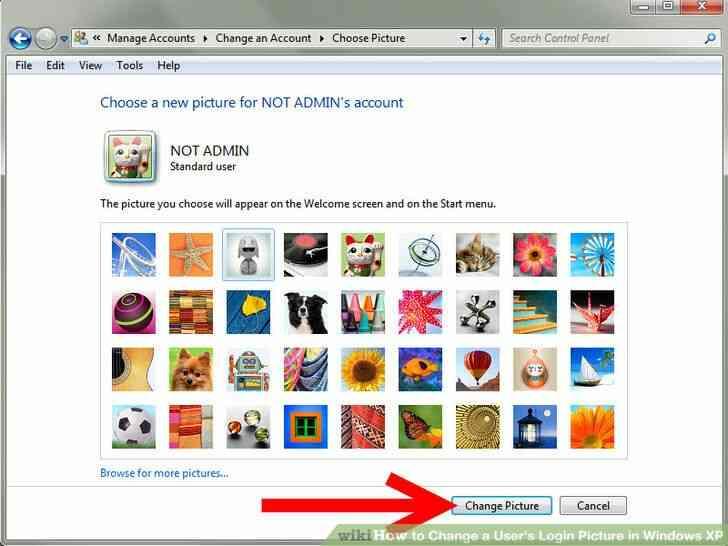 Imagen titulada Cambio de un Usuario de inicio de Sesión de Imagen en Windows XP Paso 5