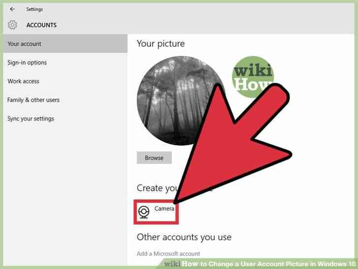 Imagen titulada Cambiar una Imagen de Cuenta de Usuario en Windows 10 Paso 8
