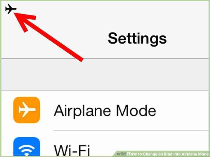 Imagen titulada Cambio de un iPad En Modo Avión el Paso 4