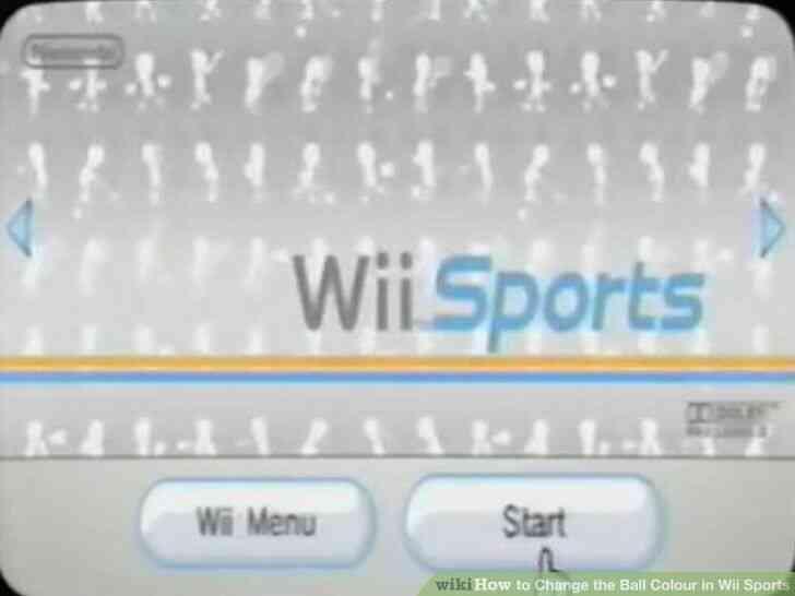 Imagen titulada Cambiar la Bola de Color en Wii Sports Paso 2
