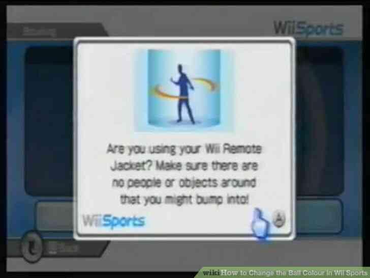 Imagen titulada Cambiar la Bola de Color en Wii Sports Paso 5