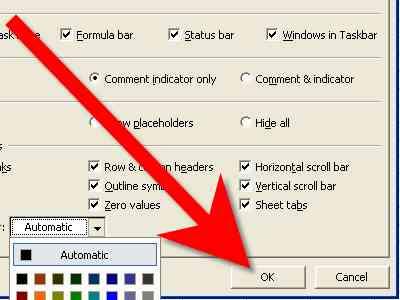 Cómo Cambiar el Color de las líneas de división en Excel