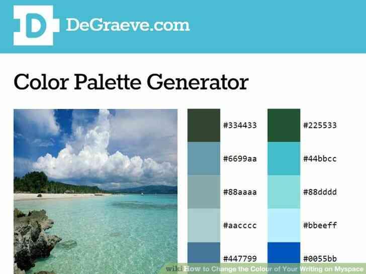 Imagen titulada Cambiar el Color de Su Escritura en Myspace Paso 1