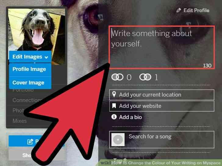 Imagen titulada Cambiar el Color de Su Escritura en Myspace Paso 2