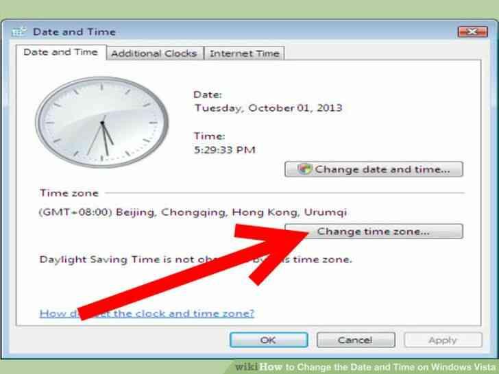 Imagen titulada Cambiar la Fecha y la Hora en Windows Vista Paso 5