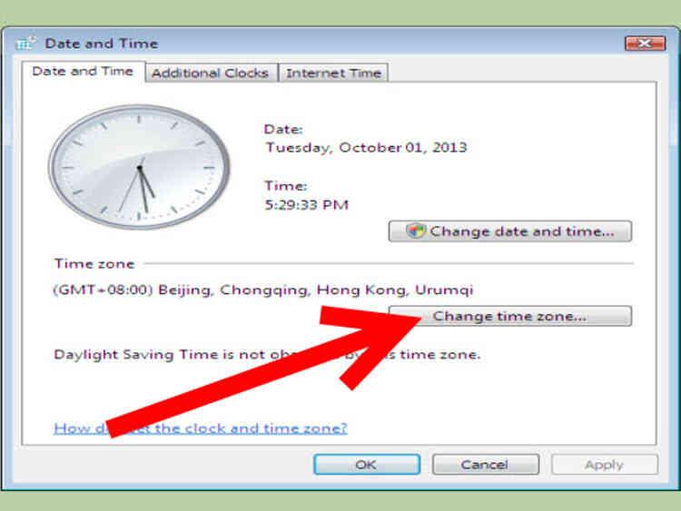 Cómo Cambiar la Fecha y la Hora en Windows Vista