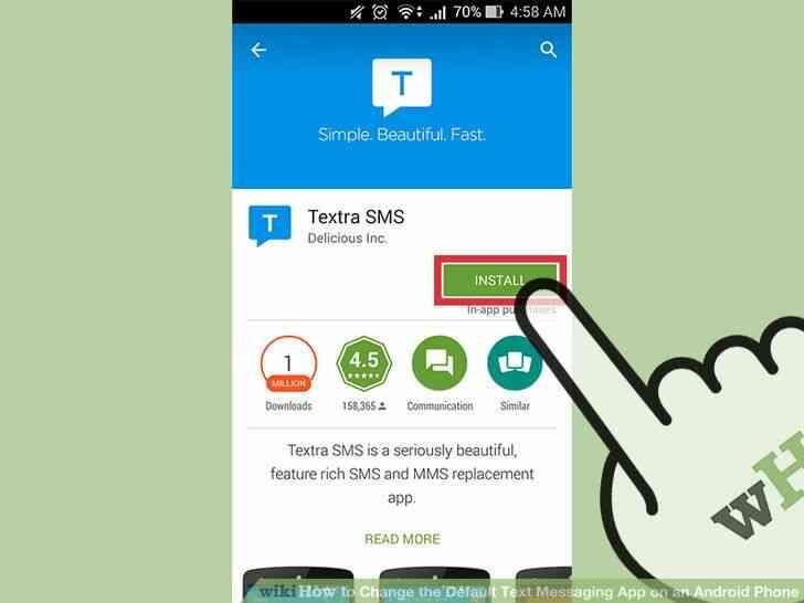 Imagen titulada Cambiar el valor Predeterminado de Mensajería de Texto de la Aplicación en un Teléfono Android Paso 1