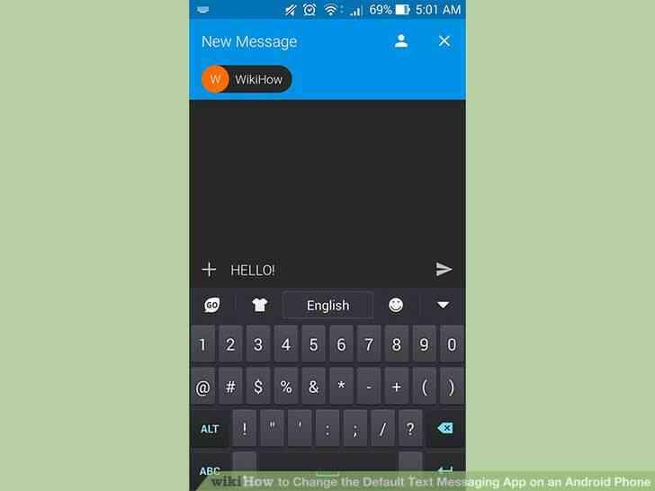 Imagen titulada Cambiar el valor Predeterminado de Mensajería de Texto de la Aplicación en un Teléfono Android Paso 6