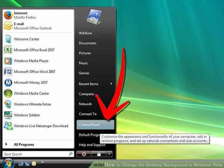Imagen titulada Cambiar el Fondo del Escritorio en Windows Vista Paso 1
