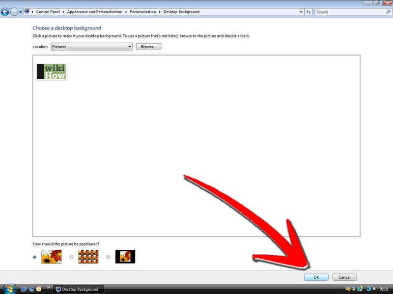Cómo Cambiar el Fondo del Escritorio en Windows Vista