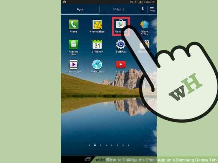 Imagen titulada Cambiar la Aplicación de Correo electrónico en un Samsung Galaxy Tab Paso 1