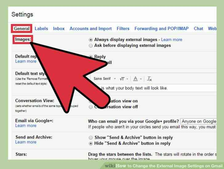 Imagen titulada Cambiar la Imagen Externa de la Configuración en Gmail Paso 4