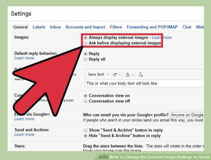 Imagen titulada Cambiar la Imagen Externa de la Configuración en Gmail Paso 5