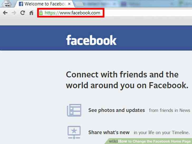 Imagen titulada Cambiar el Facebook Página de Inicio Paso 6