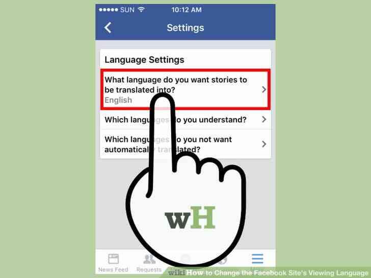 Imagen titulada Cambiar el Facebook del Sitio Idioma de Visualización Paso 6
