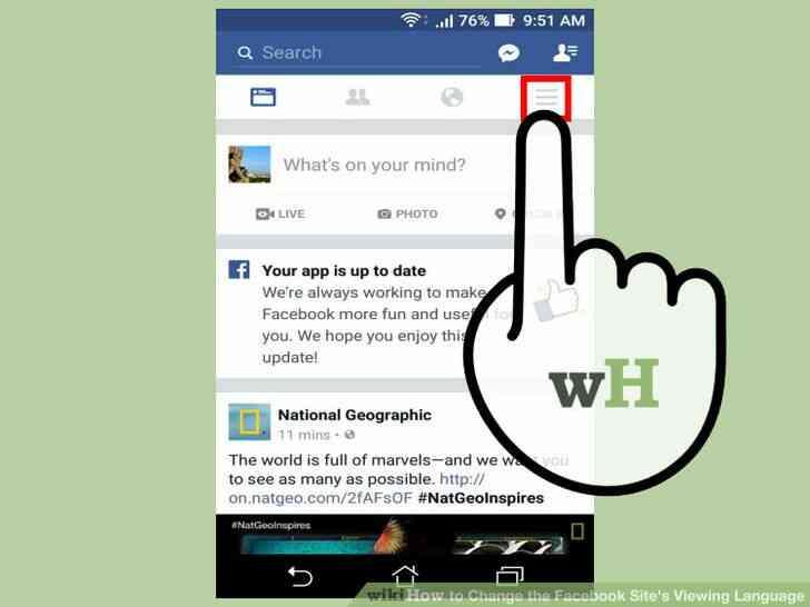 Imagen titulada Cambiar el Facebook del Sitio Idioma de Visualización Paso 10