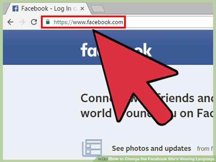 Imagen titulada Cambiar el Facebook del Sitio Idioma de Visualización Paso 13