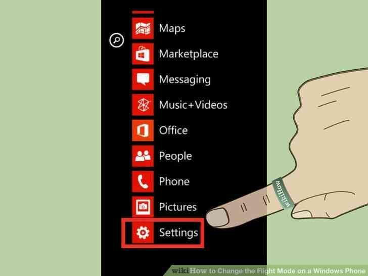 Imagen titulada Activar el Modo de Vuelo en el Teléfono de Windows 7 Paso 2