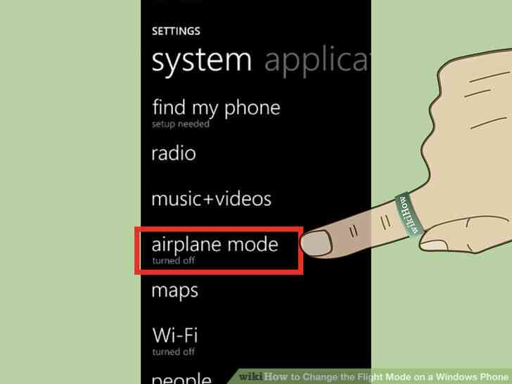 Imagen titulada Activar el Modo de Vuelo en el Teléfono de Windows 7 Paso 3