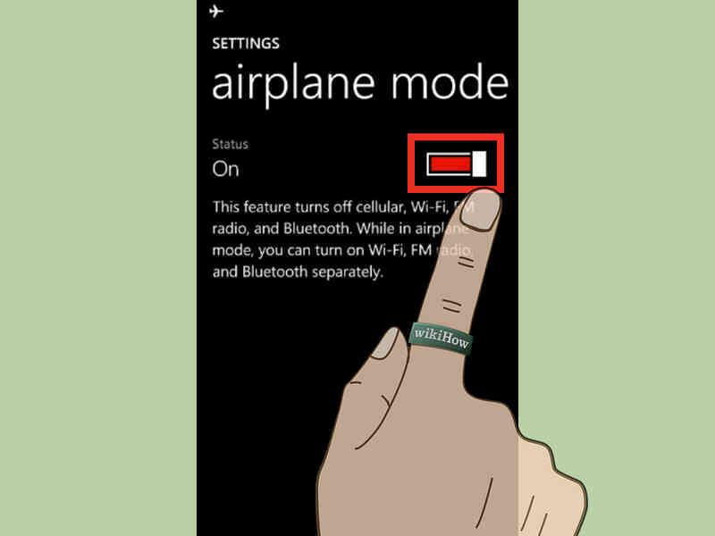 Cómo Cambiar el Modo de Vuelo en Windows Phone