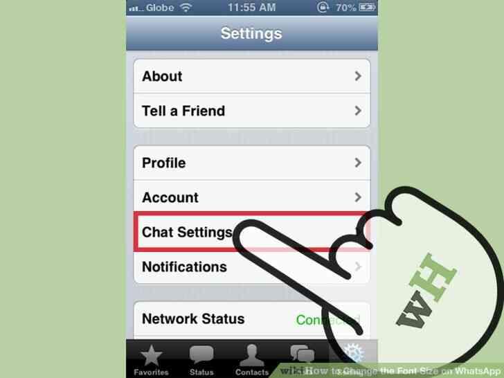 Imagen titulada Cambiar el Tamaño de letra en WhatsApp Paso 2