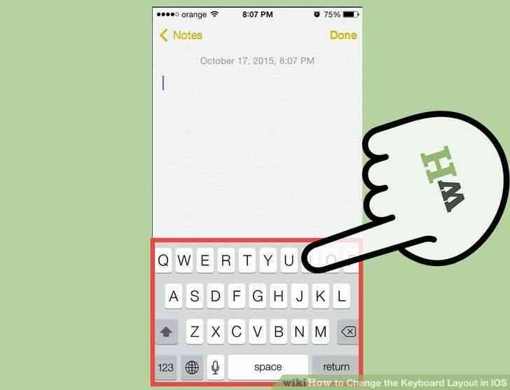 Imagen titulada Cambiar la distribución del Teclado en iOS Paso 8