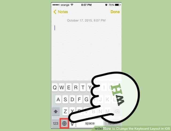 Imagen titulada Cambiar la distribución del Teclado en iOS Paso 9