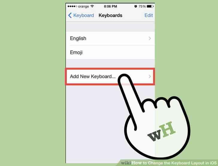 Imagen titulada Cambiar la distribución del Teclado en iOS Paso 4