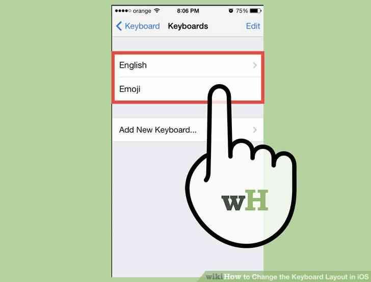 Imagen titulada Cambiar la distribución del Teclado en iOS Paso 5