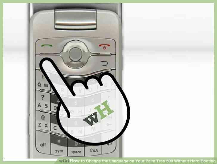 Imagen titulada Cambiar el Idioma en Tu Palm Treo 500 Difícil, Sin Arrancar el Paso 1