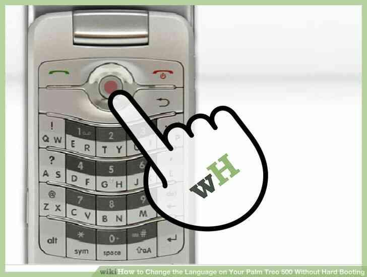 Imagen titulada Cambiar el Idioma en Tu Palm Treo 500 Difícil, Sin Arrancar el Paso 2