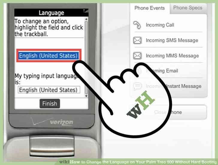 Imagen titulada Cambiar el Idioma en Tu Palm Treo 500 Difícil, Sin Arrancar el Paso 5