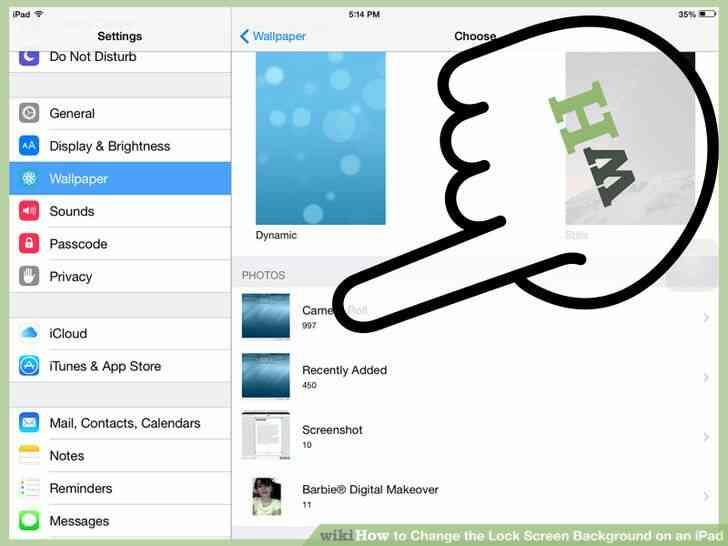 Imagen titulada Cambiar la Cerradura de Fondo de la Pantalla en un iPad Paso 6