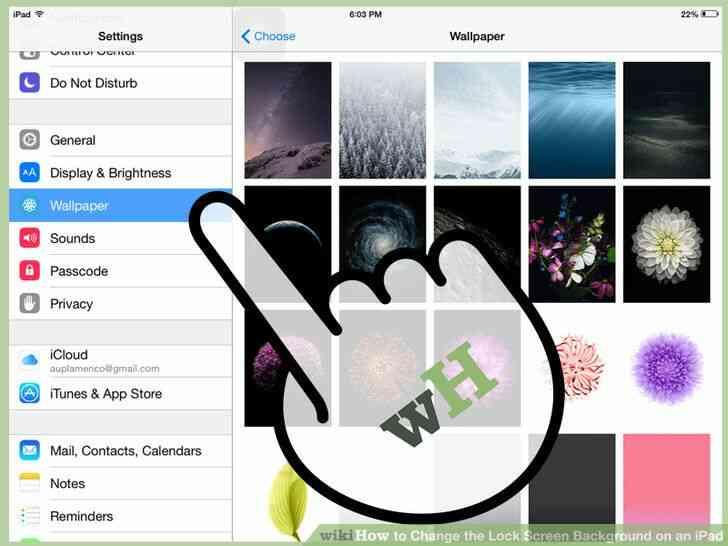 Imagen titulada Cambiar la Cerradura de Fondo de la Pantalla en un iPad Paso 3