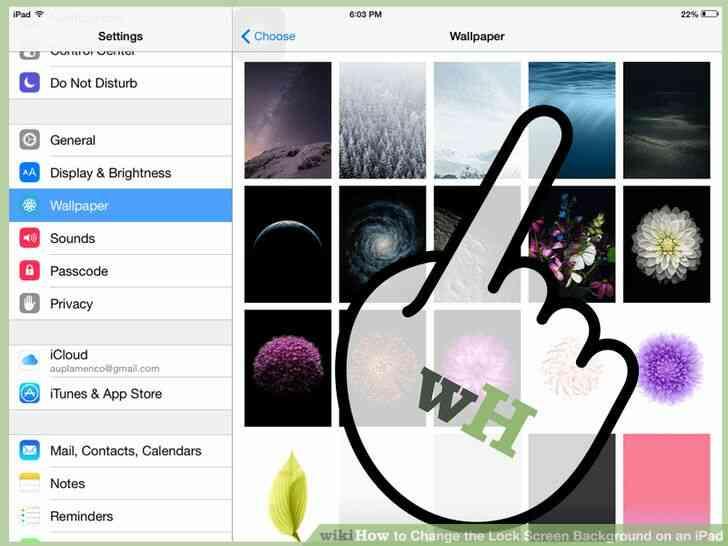 Imagen titulada Cambiar la Cerradura de Fondo de la Pantalla en un iPad Paso 4