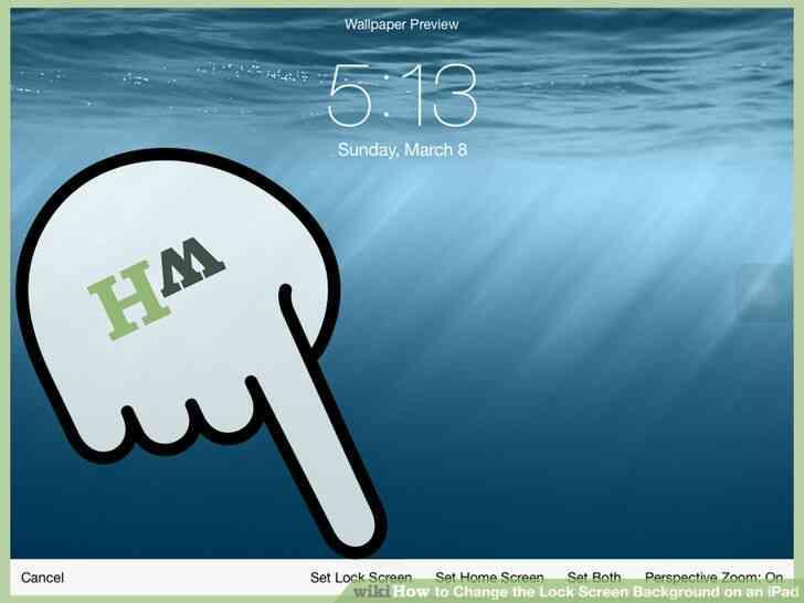 Imagen titulada Cambiar la Cerradura de Fondo de la Pantalla en un iPad Paso 5