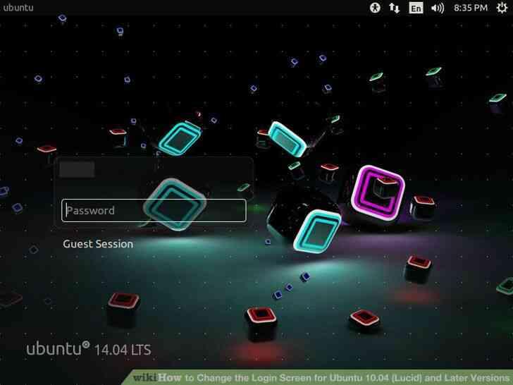 Imagen titulada Cambiar la Pantalla de inicio de Sesión de Ubuntu 10.04 (Lucid) y más Tarde
