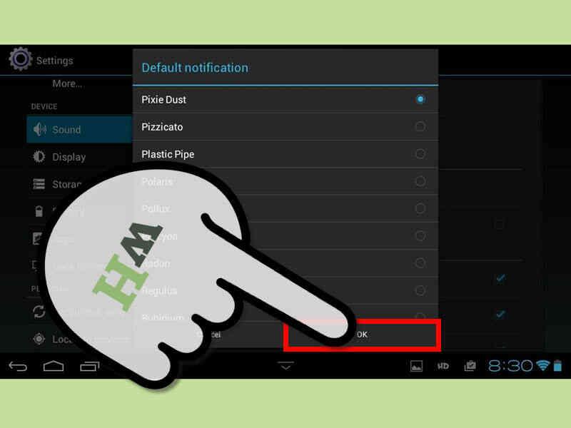 Cómo Cambiar el Tono de Mensaje en una Galaxy Tab