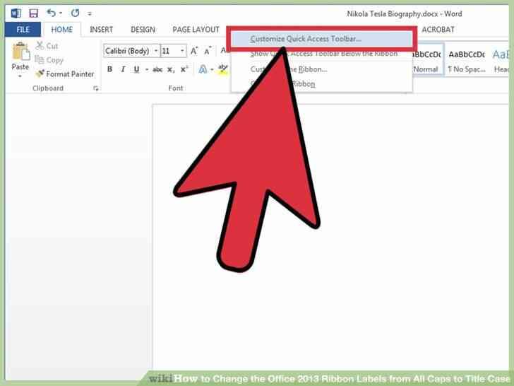 Imagen titulada Cambiar el Office 2013 de la Cinta de Etiquetas de Todas las Tapas a Título de Paso 2
