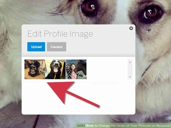 Imagen titulada Cambiar el Orden de las Fotos en Myspace Paso 6