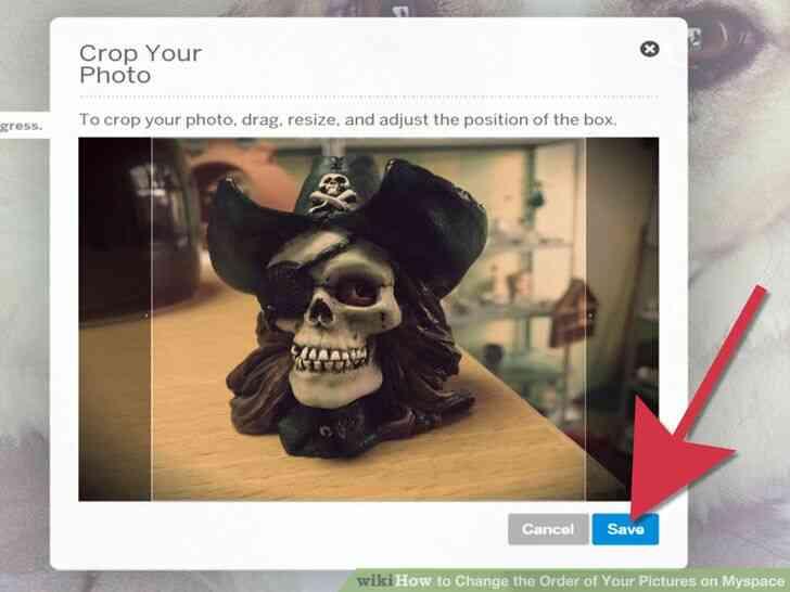 Imagen titulada Cambiar el Orden de las Fotos en Myspace Paso 7
