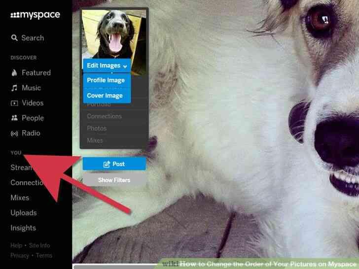 Imagen titulada Cambiar el Orden de las Fotos en Myspace Paso 2