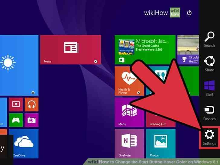Imagen titulada Cambiar el Botón de Inicio de Hover Color en Windows 8.1 el Paso 2